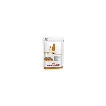 ALIMENTATION HUMIDE ROYAL CANIN VET CAT SENIOR CONSULT STAGE 1 SACHETS 12 X 100 G pour chat