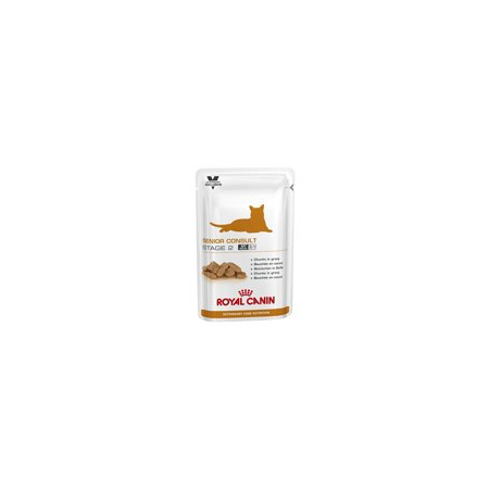ALIMENTATION HUMIDE ROYAL CANIN VET CAT SENIOR CONSULT STAGE 2 SACHETS 12 X 100 G pour chat