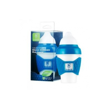Biberon biobased blue crystal - 180ml tetine anatomique 0-3 mois