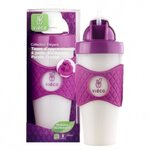 Tasse d'apprentissage a paille biobased purple crystal - 330ml 8 mois+