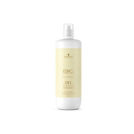 SHAMPOOING  LIGHT OIL, OIL MIRACLE, BC BONACURE DE SCHWARZKOPF 1000ML