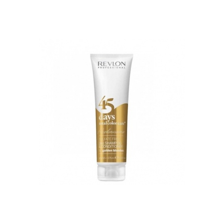 SHAMPOOING  CONDITIONNEUR 45 DAYS TOTAL COLOR CARE  FOR GOLDEN BLONDES REVLON PROFESSIONAL 275ML