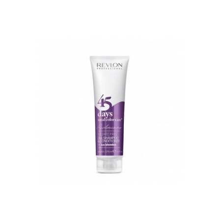 SHAMPOOING  CONDITIONNEUR 45 DAYS TOTAL COLOR CARE  FOR ICE BLONDES REVLON PROFESSIONAL 275ML