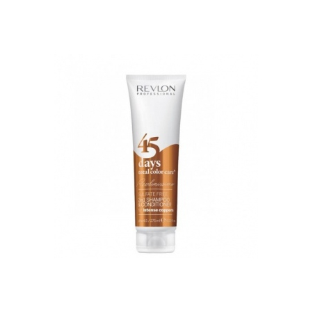 SHAMPOOING  CONDITIONNEUR 45 DAYS TOTAL COLOR CARE  FOR INTENSE COPPERS REVLON PROFESSIONAL 275ML