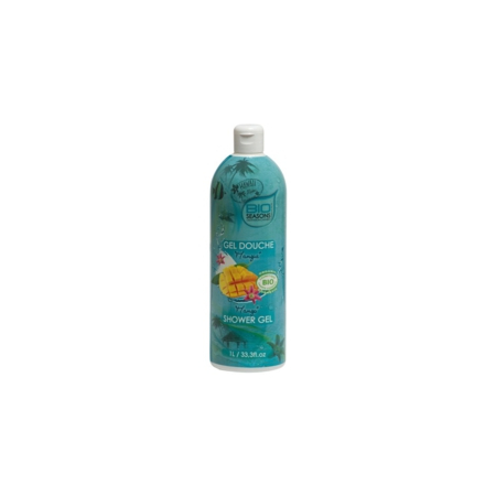 Gel douche mangue bio  Destination Caraibes 1L - Bio Seasons
