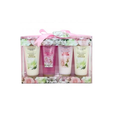 Coffret de Bain - Garden Dreams - Rose, Lys & Freesia, Jasmin & Magnolia - 4 Pcs