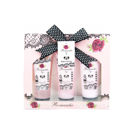 Coffret de Bain - Romantic Rose - 3 Pcs