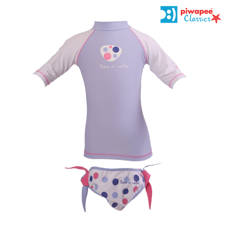 ENSEMBLE TOP ANTI UV UPF50+ ET MAILLOT  BUBBLEGUM PARME  10 ANS