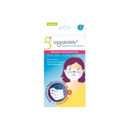 MASQUE MOTIF CHAT ANTI-PROJECTION - Orgakiddy