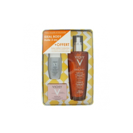 Coffret Ideal Body Huile 3 Ors - huile corps 100ml + solution micellaire 30ml + crème peaux normales 15ml