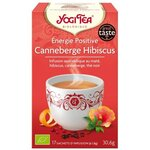 Energie Positive Canneberge Hibiscus - Infusion Bio - 17 sachets