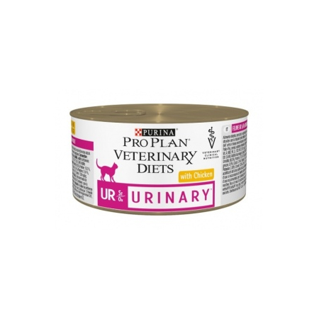 Veterinary Diets Feline Urinary Poulet 24 boîtes x 195 g chat