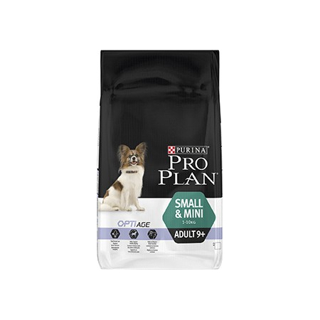 Pro Plan Dog Small & Mini Adult 9+ 7 kg Croquettes chien OPTIAGE - Purina