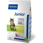 Virbac Veterinary HPM Junior Neutered Cat - Pour jeune chat stérilisé - Sac 3 kg