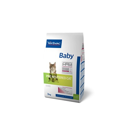 Virbac Veterinary HPM Baby Pre Neutered Cat - pour chat - Sac 3 kg