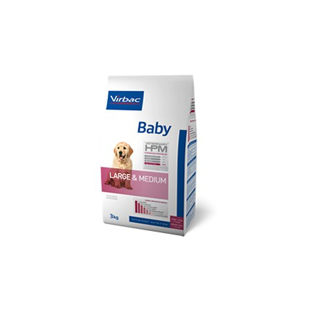 Virbac Veterinary HPM Baby Large & Medium Dog - pour chiot - Sac 12 kg