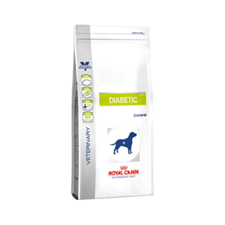 Croquettes Royal Canin Veterinary Diet Dog Diabetic DS37 sac 12 kg pour chien diabétique