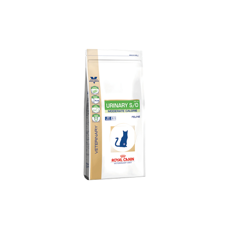 Croquettes Royal Canin Veterinary Diet Cat Urinary Moderate Calorie UMC34 sac 9 kg pour chat