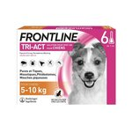 Tri Act Solution pour spot on pour chiens 5-10 kg - 1 ml x 6 pipettes - Frontline