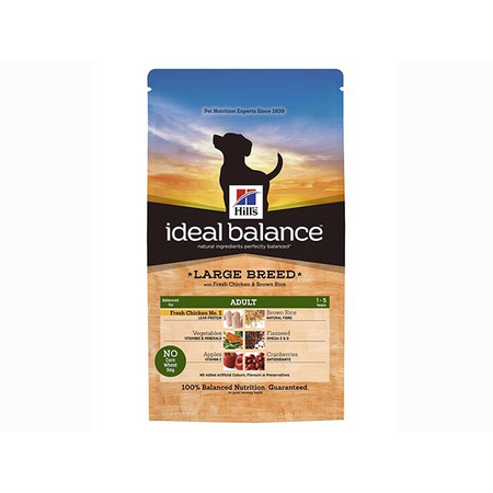 Ideal Balance Canine Adult Large Breed Poulet & Riz 12 kg Croquettes chien