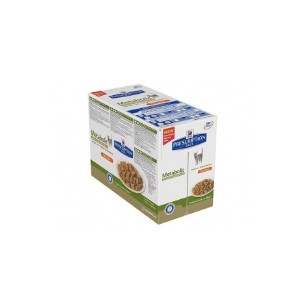 Croquettes Hill's Metabolic Advanced Weight Solution chat 12 sachets de 85 g - Hill's Pet Nutrition