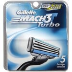 Lames Gillette MACH3 Turbo Paquet de 5