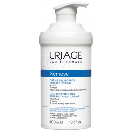 Xémose Crème relipidante anti-irritations - 400 ml - Uriage