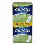 Serviettes hygiéniques Always Ultra Normal lot de 32 duo pack