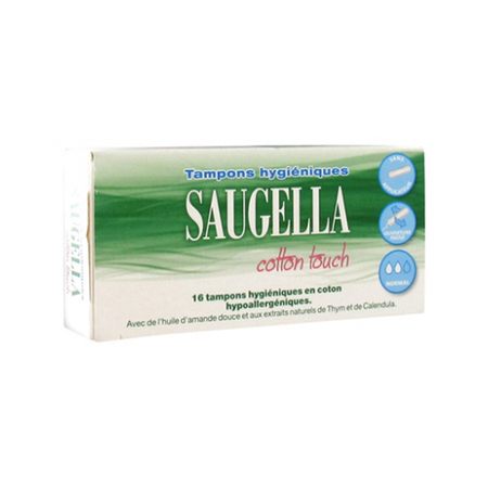 Cotton Touch Tampons normal - boîte de 16 - Saugella