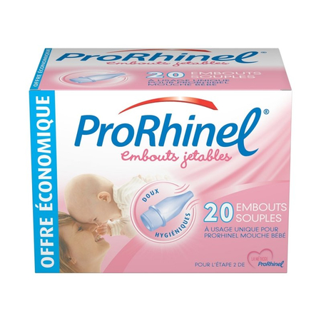 Embout nasal jetable - boîte de 20 embouts - Prorhinel