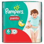 Baby-Dry Pants Couches taille 6 (plus de 16 kg) - paquet de 19 couches - Pampers