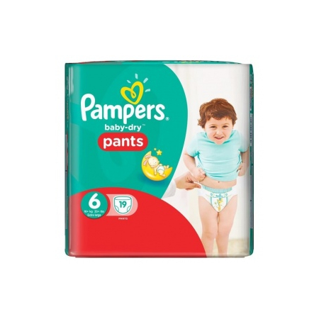Baby-Dry Pants Couches taille 6 (plus de 16 kg) - paquet de 19 couches