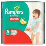 Baby-Dry Pants Couches taille 5 (12 à 18 kg) - paquet de 21 couches - Pampers