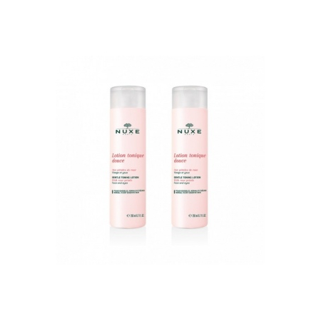 Lotion tonique douce aux pétales de rose -  lot de 2 x 200 ml