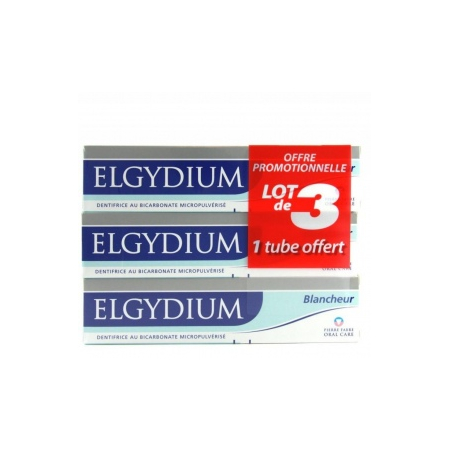 dentifrice blancheur lot de 3 x 75 ml de elgydium sur 1001pharmacies. Black Bedroom Furniture Sets. Home Design Ideas