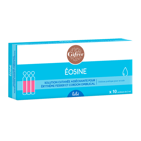 Eosine 2% Solution pour application cutanée - 10 unidoses de 2 ml
