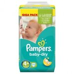 Couches Baby Dry taille 4+ (9 à 18 kg) paquet de 112 couches - Pampers