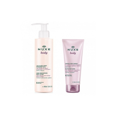 Body Lait fluide corps 400 ml + Body Gommage corps fondant 200 ml - Nuxe