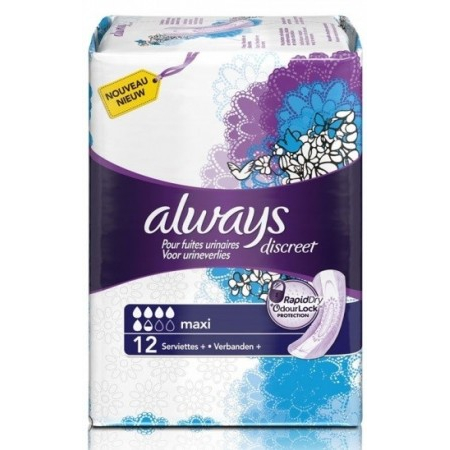 Discreet Maxi - 12 serviettes - Always