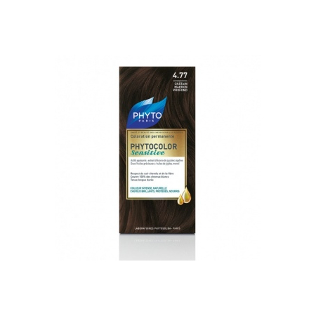 Phytocolor Sensitive - Coloration permanente - Teinte 4.77 Châtain marron profond - Phyto