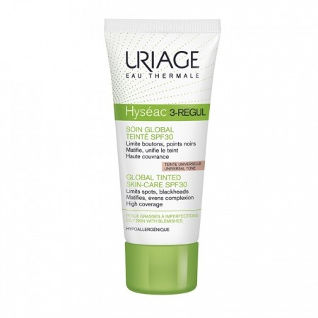 Hyseac 3 Regul - Soin global teinte universelle SPF30 peaux grasses - 40 ml - Uriage