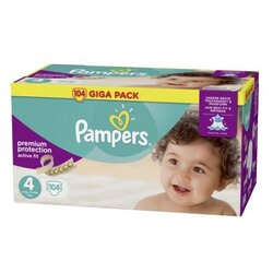 Giga pack active fit taille 4 de 8 16 kg 104 couches - Couches pampers active fit taille 4 giga pack ...