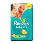 Baby Dry Taille 3+ (de 5 à 10 kg) - 68 couches - Pampers
