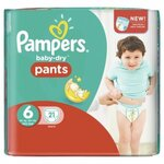Baby Dry Pants Taille 6  (16 kg et +) - 21 couches