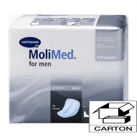 MoliMed For Men Protect Premium - Carton 168 protections anatomiques - Hartmann