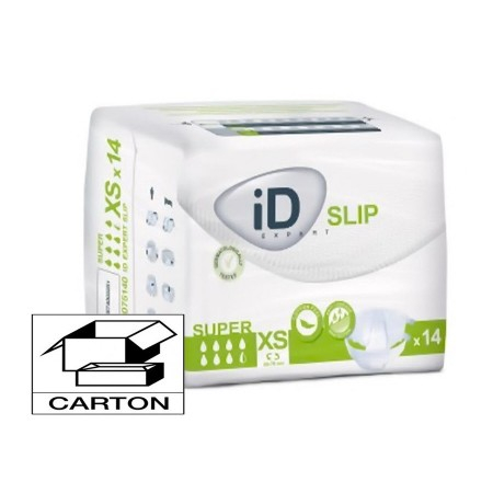 iD Expert Slip Super - Taille XS - Carton 168 changes complets - Ontex