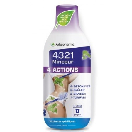 4321 Minceur 4 Actions - 280 ml - Arkopharma