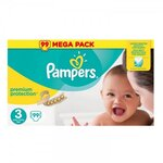 Premium Protection Mega pack - Taille 3 - 99 couches - Pampers