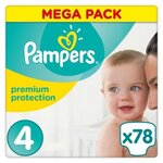 Premium Protection Mega pack - Taille 4 - 78 couches - Pampers