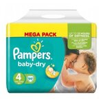 Baby dry Mega pack - Taille 4 - 86 couches - Pampers